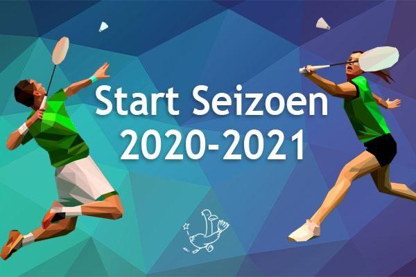 Afbeelding banner De Treffers met opschrift Start seizoen 2020-2021