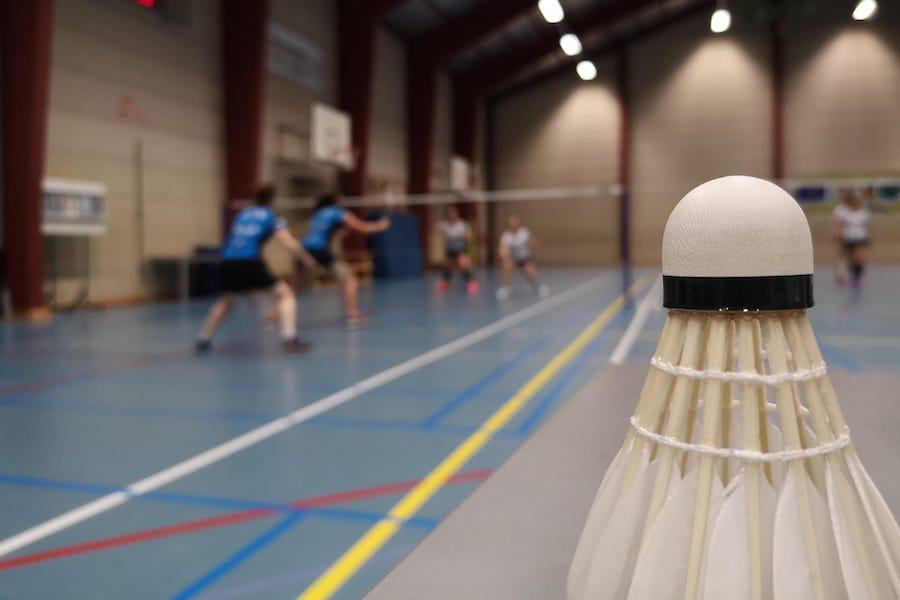 Badmintonshuttle tijdens competitie