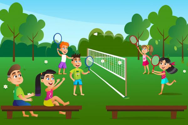 Afbeelding badminton zomer